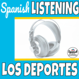 Spanish listening practice: Sports (distance learning)