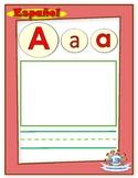 HUGE FREEBIE - Spanish literacy cards - ABC