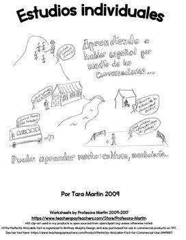 Spanish living abroad language learning workbook