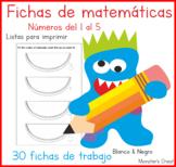 Spanish maths worksheets