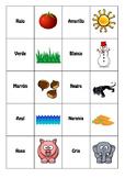 Spanish memory game. Colors
