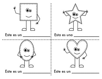 Spanish mini Shape Book: Libro de formas