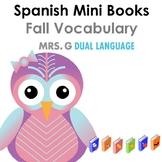 Spanish mini books-Fall vocabulary  Libritos de vocabulario del otoño