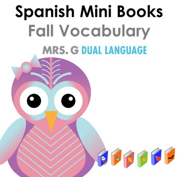 Spanish mini books-Fall vocabulary  Libritos de vocabulario del otoño