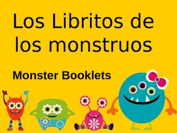 Spanish monster booklets-- Students will draw and describe scary monsters!