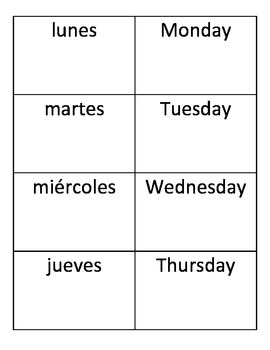 Spanish months and days ¡Pesca! game