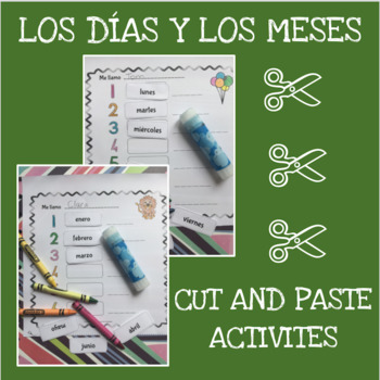 Spanish months and days cut and paste activity - Los días y los meses