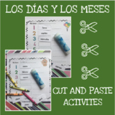 Spanish months and days cut and paste activity - Los días