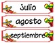 Spanish months posters