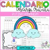 Spanish morning calendar/ Calendario de la mañana