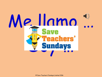 Spanish names Lesson plan, PowerPoint (with audio) & List of Spanish names