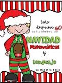 Spanish Christmas NO PREP  Math and Literacy/ Navidad matemáticas y lenguaje