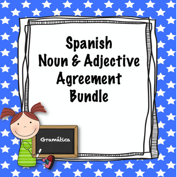 Spanish noun and adjective agreement bundle by srtas spanish spanish noun and adjective agreement bundle platinumwayz
