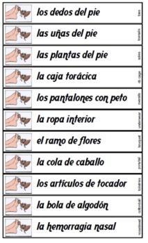 Spanish noun phrases game