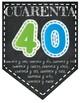 Spanish number pennants/ Números en Español