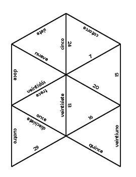 Spanish number puzzle (#s 1-30)