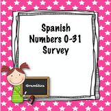 Spanish numbers 0-31 Survey