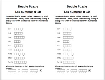 Spanish numbers 1-39