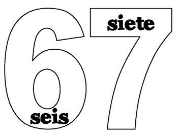 Spanish numbers blank