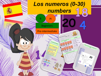 Spanish numbers, los numeros 0-30 full lesson for beginners