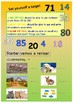 Spanish numbers, los numeros 30-100 booklet for beginners