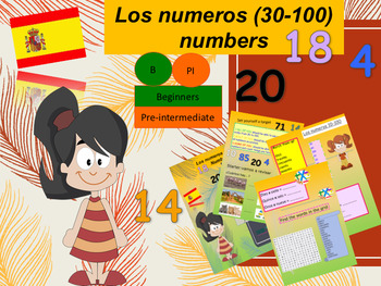 Spanish numbers, los numerous 30-100 full lesson for beginners