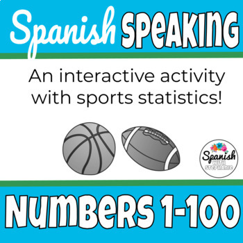 Spanish numbers speaking activity: Sports statistics (Google version)