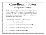 Spanish one-breath boxes + flashcards = Fluidez