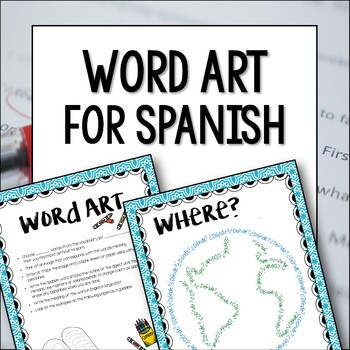 Spanish or French Vocabulary Activity - Word Wall Art