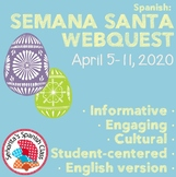 Spanish - Extensive Semana Santa Webquest ENGLISH Version