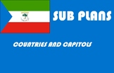 Spanish or geography emergency sub plans countries & capit