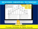 Spanish ordinal number practice- Podium winners-Printable