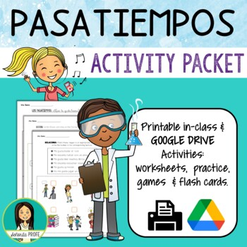 spanish pastime activities packet by elespanol tpt. Black Bedroom Furniture Sets. Home Design Ideas