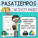 Los Pasatiempos / Spanish Pastimes Activities Packet