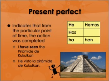 Spanish perfect tenses bundle