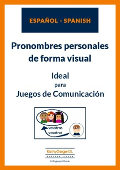 Spanish personal pronouns with images - Spanish for beginners, level A1
