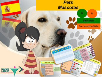 Spanish pets, mascotas PPT for beginners