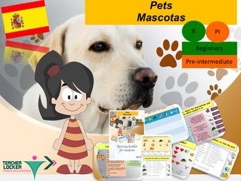 Spanish pets, mascotas full lesson for beginners