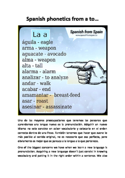 Spanish phonetics from a to...