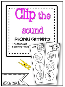 Spanish phonics clip it activity