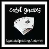 Spanish speaking activities with playing cards
