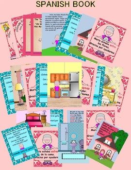 Spanish positional words book and color sheets - ¿Donde está mi gata?