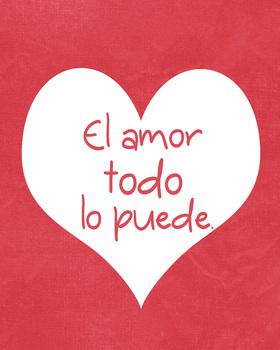 Spanish poster - El amor todo lo puede.