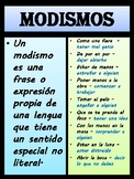 Spanish poster - Modismo