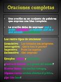 Spanish poster - Oraciones completas