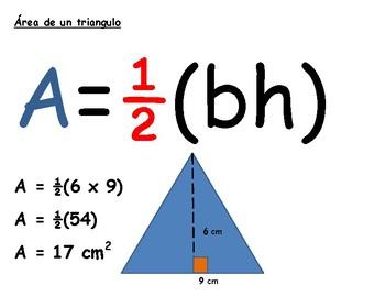 Spanish poster - área de un triángulo