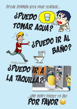 Spanish poster for school classroom needs - Puedo