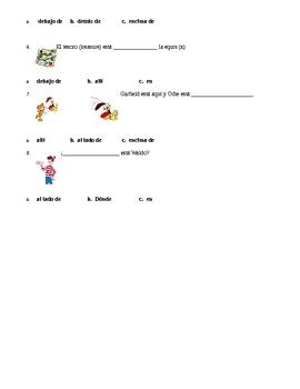 Spanish preposition quiz