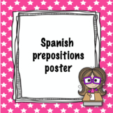Spanish prepositions poster