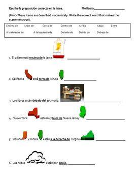 Spanish prepositions w/ estar. Las preposiciones en Espanol con estar